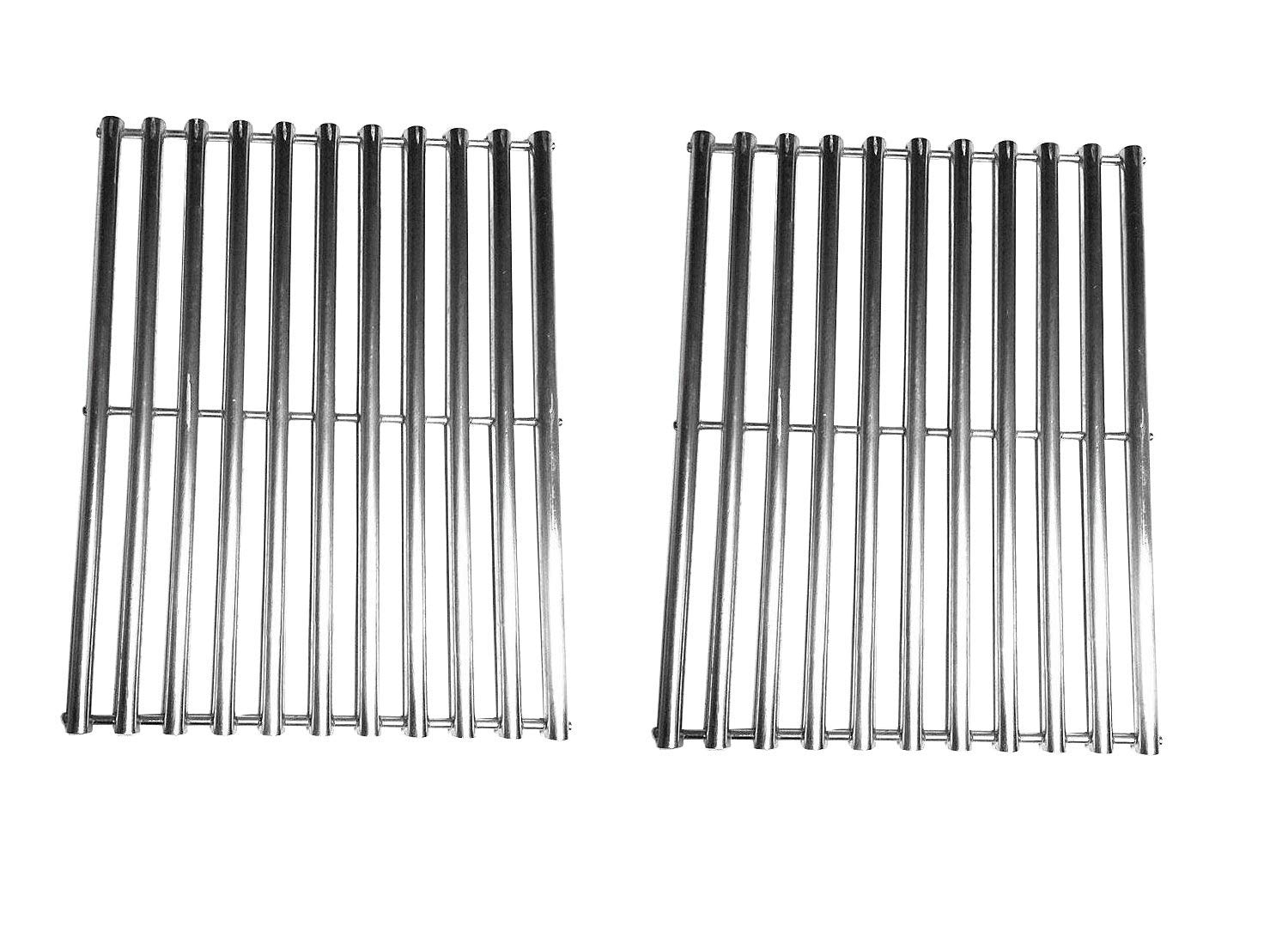Zljoint Stainless Steel Cladding Rod Cooking Grates/Cooking Grid Replacement Fit Brinkmann, Grill Master, Nexgrill and Uniflame Gas Grills and Others, Set of 2
