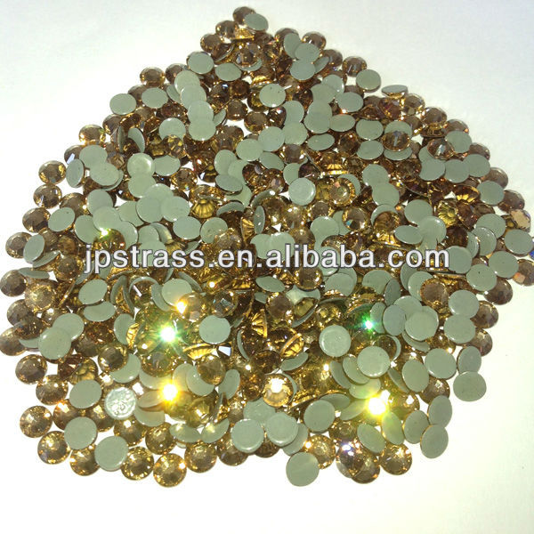 hot fix rhinestone in 20ss citrine color used for high heel shoes decoration