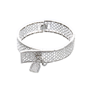 52205 xuping lock bangle joyeria de oro en plata color turca mayoreo