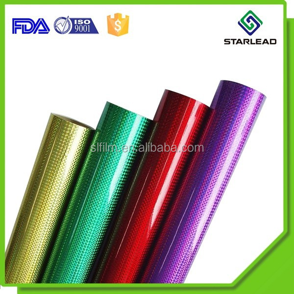 Colorful Transparent Hologram BOPP Film Holographic Sheets