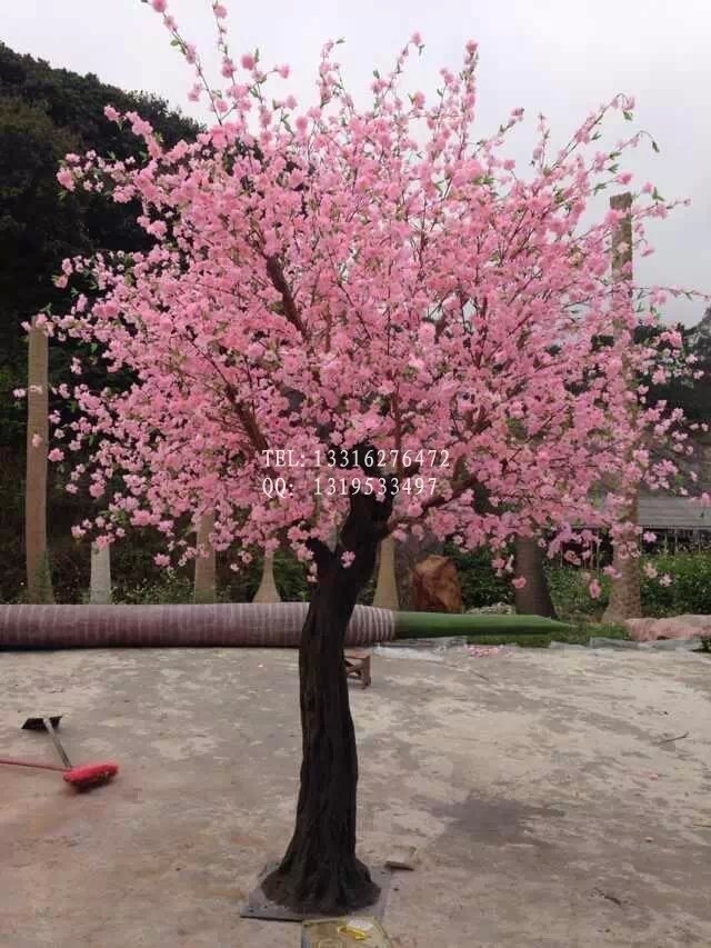 High quality and competive price pink/white sakura tree artificial tree cherry blossoms