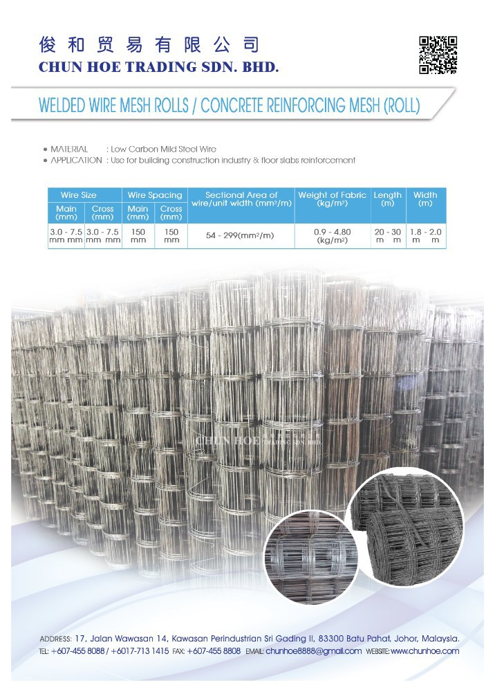 Welded Wire Mesh Rolls / Concrete Reinforcing Mesh (roll) - Buy ...