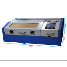 40W CO2 laser engraving machine 300*200 for rubber/stamp/paper/ wood