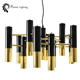Modern lighting aluminum frame country gold luxury hotel chandelier
