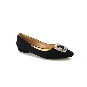 Women s Embellished Sparkle Rhinestones Buckle Soft Comfort Shoes Dress  Ballet Flat Shoes 1a6a76430