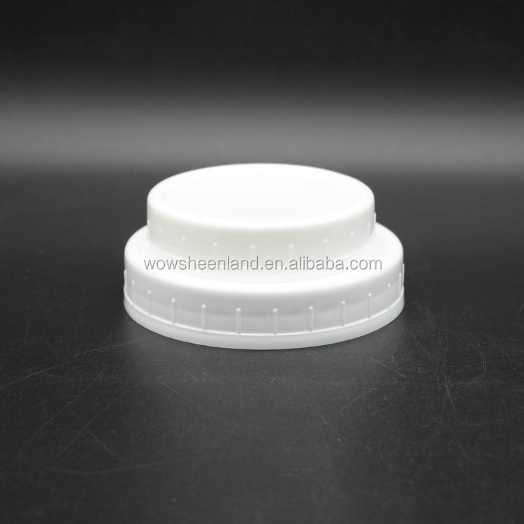 "2 3/4"" Wide-Mouth Reusable Plastic Lids for Canning Jars"