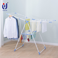 Gullwing style folding baby clothes drying rack