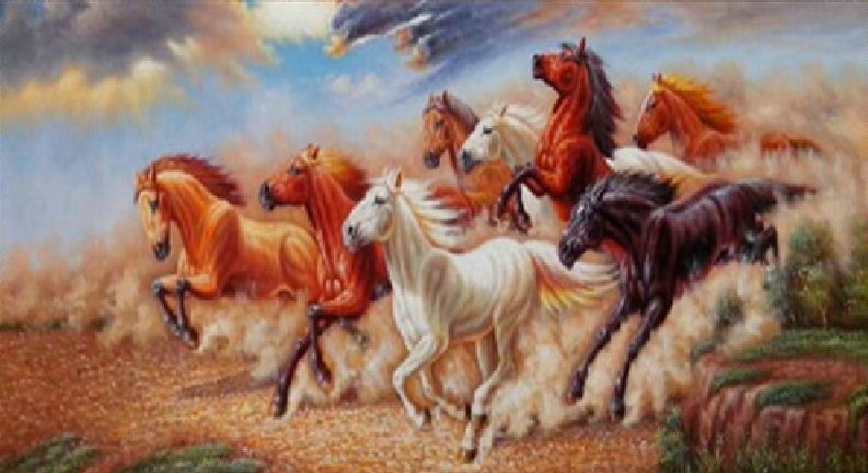 Running Horses Canvas Painting