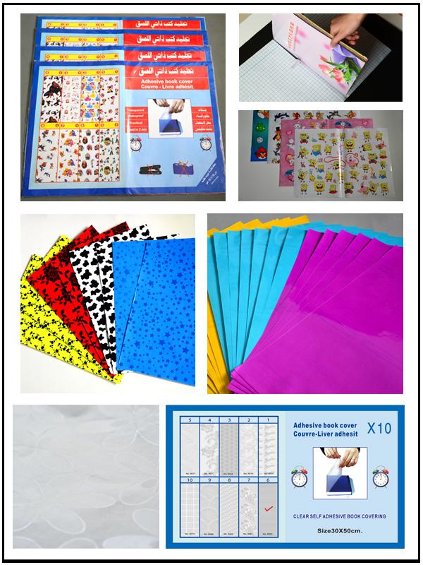 A3 A4 A5 Pvc Cpp Self Adhesive Transparent Book Cover Plain Color ...