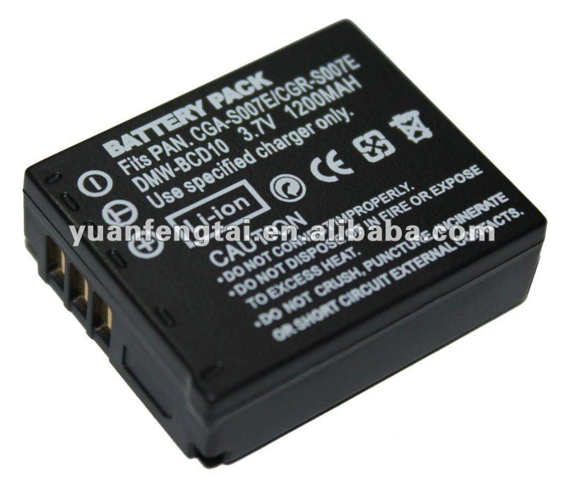 For panasonic 3.7V 1200mah li-ion battery digital camcorder CGA-S007/DMW-BCC10