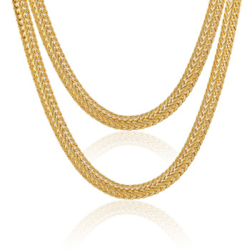 necklace heavy diamond chains inch polished yellow solid gold square link curb mm mens cut chain