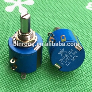 3540S 10-Turn Wirewound rotary Precision Potentiometer 100K
