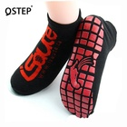 High quality customize cotton yoga gym non slip heated foot massage trampoline socks