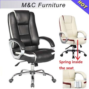 M&C small order acceptable hot sale multifunction good quality comfortable office chair with spring inside the seat
