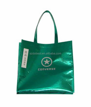Custom print promotional cheap recycled pp woven laminated shopping tote bag wholesale