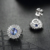 Fashion Korean Crystal custom jewellery with natural tanzanite fine silver earrings  for women