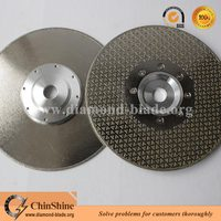 China marble diamond electroplated disk 105mm to 250mm fast no edge broken with low price