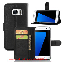 Leather Wallet Folded Flip Mobile Phone Case Cover for Samsung Galaxy S7 S6 edge S5 J5 J7 A7