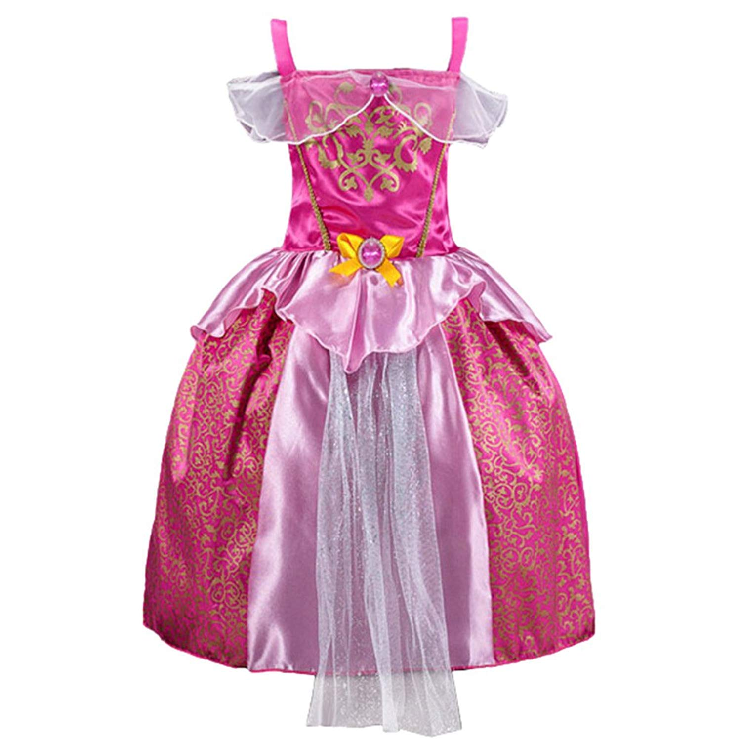 0e033c855bf2 Get Quotations · JiaDuo Baby Girls Princess Aurora Dress Up Costume Party  Outfit