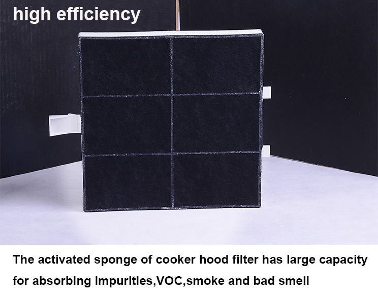 ISO certified 00361047 square activated active carbon range replacement cooker hood filter