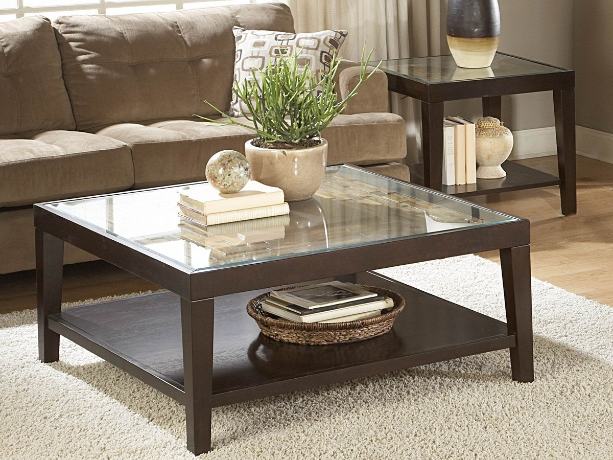 Vincent 2 Piece Coffee Table Set by Homelegance in Espresso