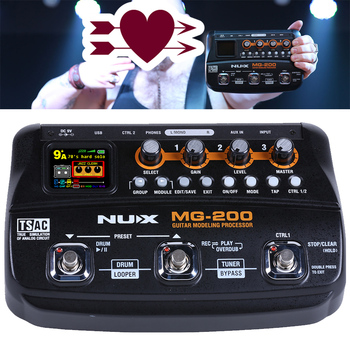 Wholesale nux mg loop effects MG-200  guitar effector with distortion and delay
