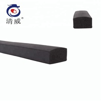 Square heat resistant epdm foam rubber sponge sealing strip.