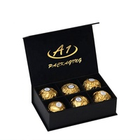 Magnetic Chocolate Truffles Sweet Engagement paper gift packaging box