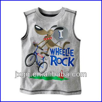 f9ca1c34533 Custom Printing Design Fashion Online Sale Kids Sleeveless T Shirts ...