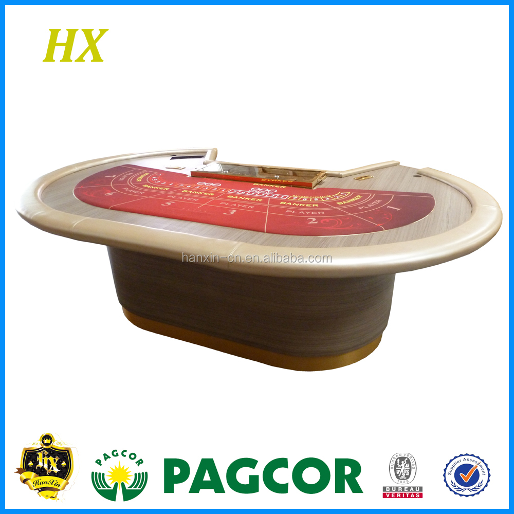 Casino Customizing Super Luxury Baccarat Table with Money Box Tip box