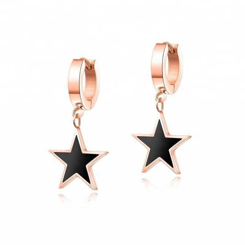 0cbdc54000dd Dreamcatcher 316L de joyas de acero inoxidable colgante de estrella  pendientes de Clip pendientes largos aretes
