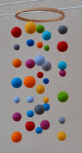 felt ball mobile for baby decoration customsize