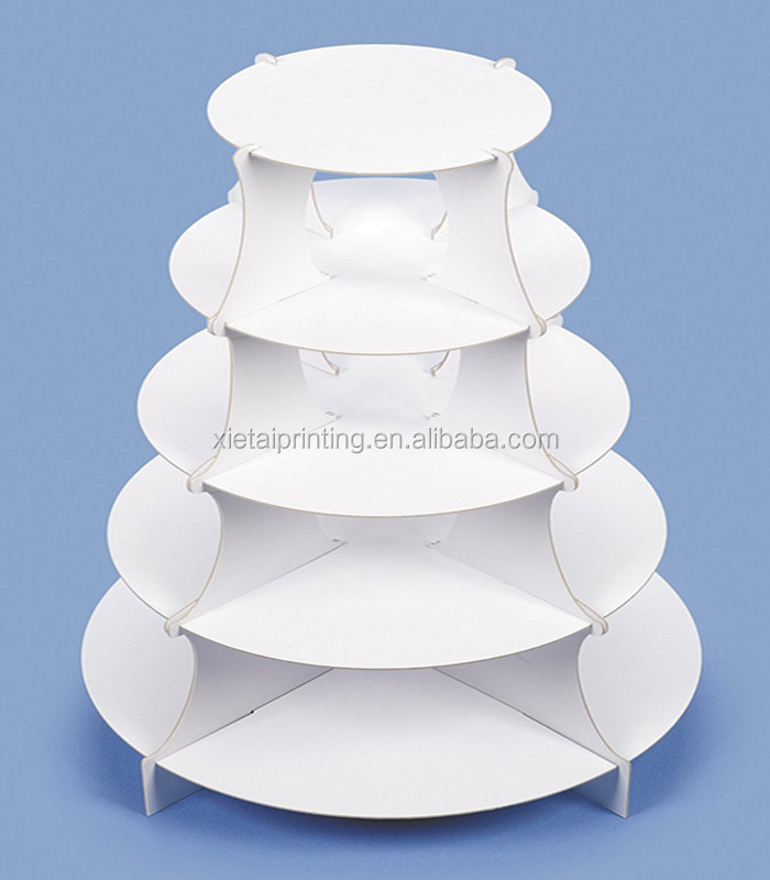 wholesale new custom printed fashion design wedding 5 tiers cake stand