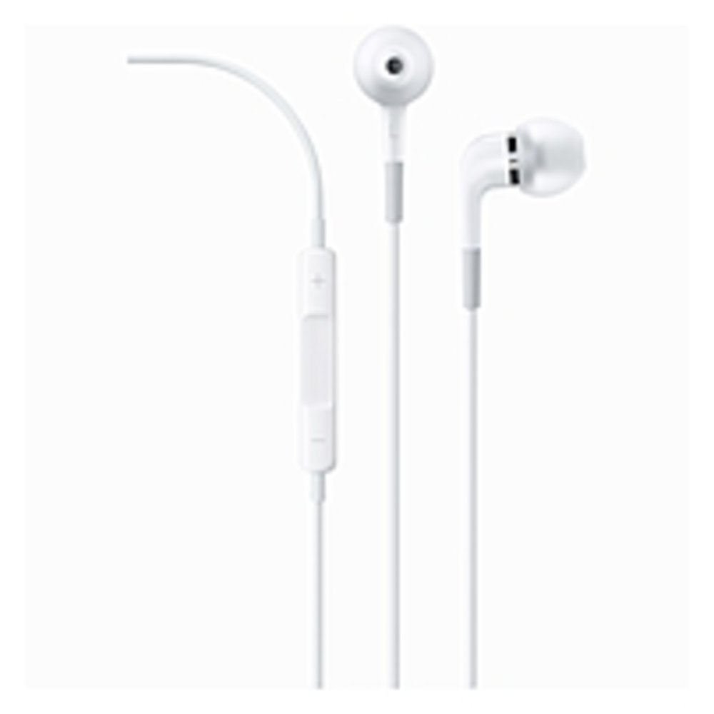 Apple In-Ear Headphones with Remote and Mic - Stereo - Mini-phone - Wired - 23 Ohm - 5 Hz - 21 kHz - Earbud - Binaural - In-ear - 3.50 ft Cable