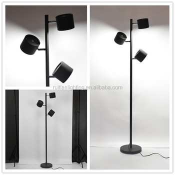 Led Deorative Touch Floor Lamp 3 Lights Floor Lamp Black Metal Stand Lamp 21w Led Lights Buy 7w Led Spot Lights Touch Lamp Spot Led Lights Touch