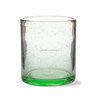 cylinder glass with green bubbles