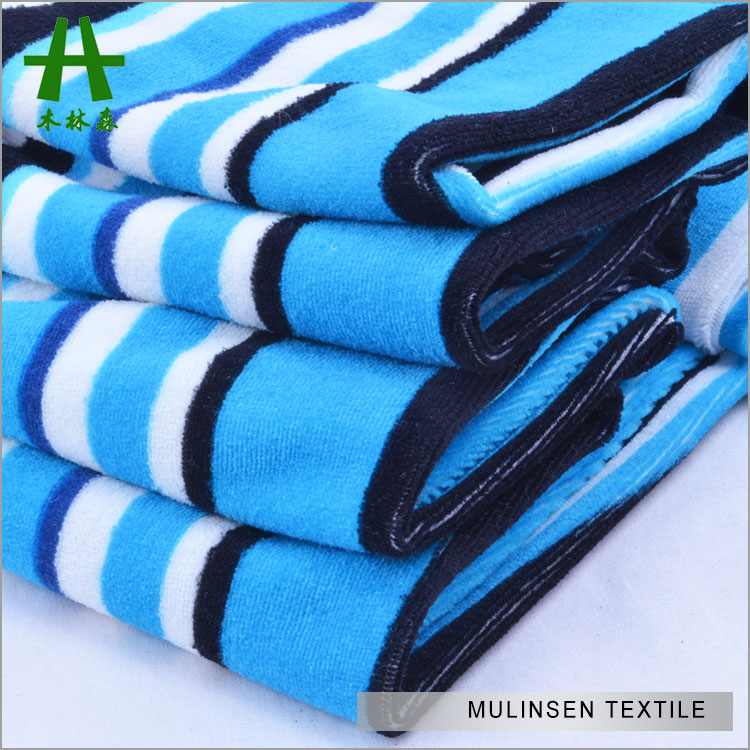 Mulinsen Textile Soft Touch Striped Pattern Printed Polyester Lycra Cut Velvet Fabric