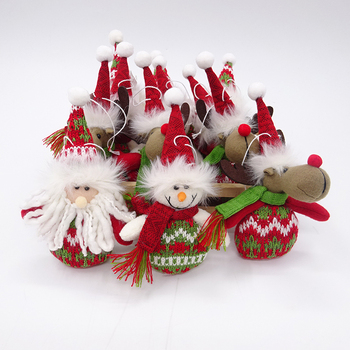 12 p christmas deco in wooden box mix santasnowmanreindeer - Wooden Box Christmas Decorations