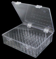 29548 80 spool thread organizer Transparent customized plastic box storage home