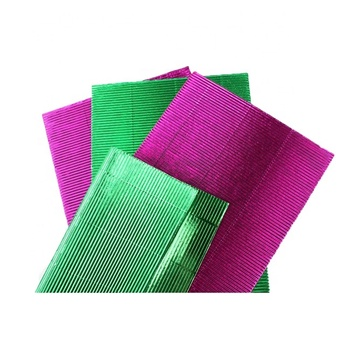 Customized glitter coloured corrugated cardboard/paper/sheet/roll for DIY and wrapping