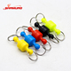 Mini colorful Stainless Steel Magnetic Fishing Clip Swivels Fly Fishing Snap Buckle Quick Release Lanyard Clip Land Connector
