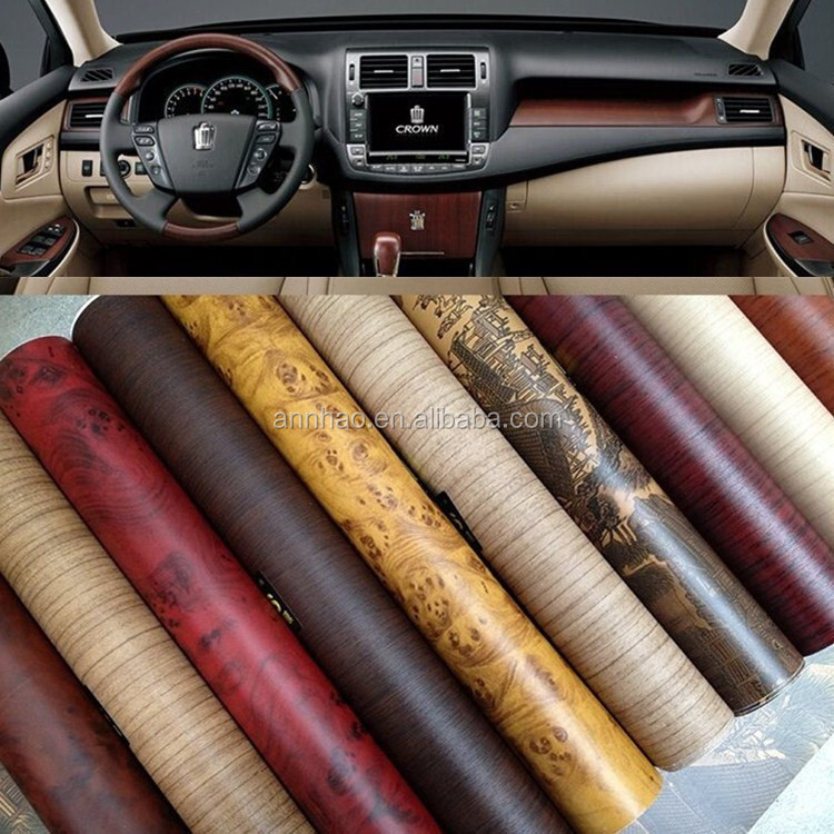 self adhesive film car interior decoration wood grain vinyl roll for car buy wood grain vinyl. Black Bedroom Furniture Sets. Home Design Ideas