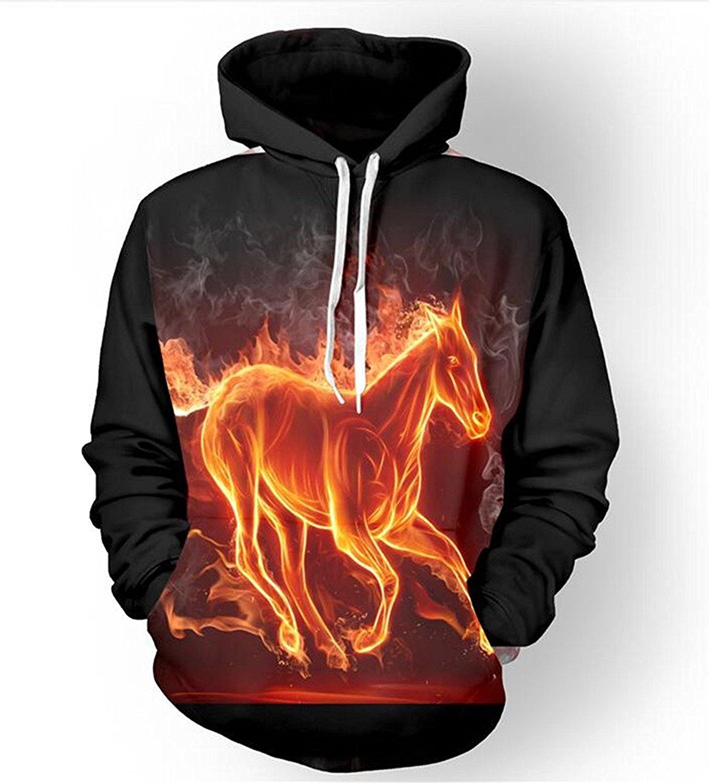 Cavinsle HD Graphic Digital Printing Men//Women Hoodies Print Waves 3D Hooded Sweatshirts Hoody Tops Hip Hop