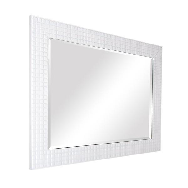 Decoraci n ba o blanco grande enmarcado espejo espejos de for Espejo grande blanco