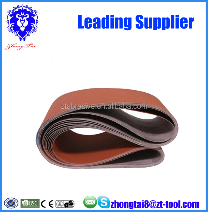 aluminum oxide abrasive sanding belt 100X610mm for machine