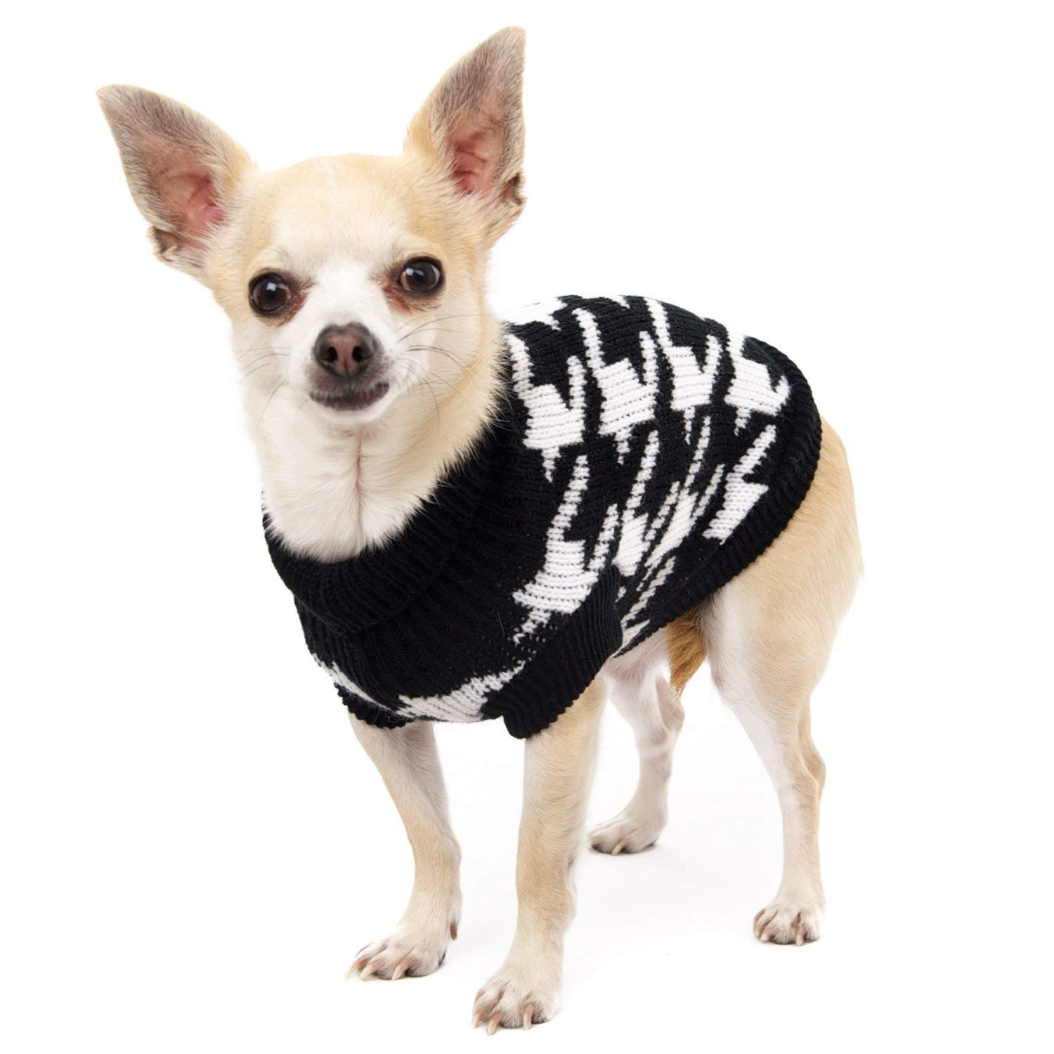 "UrbanPup Houndstooth Sweater (Large - Dog Body Length: 14"" / 35cm)"