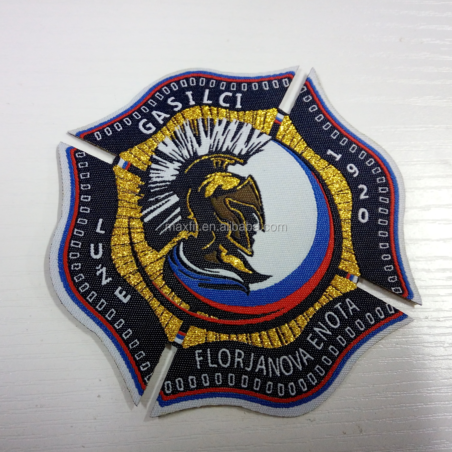 China factory custom cheap woven patches for clothing