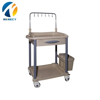 AC-IT041 infusion  trolley medical cart specification with one drawer