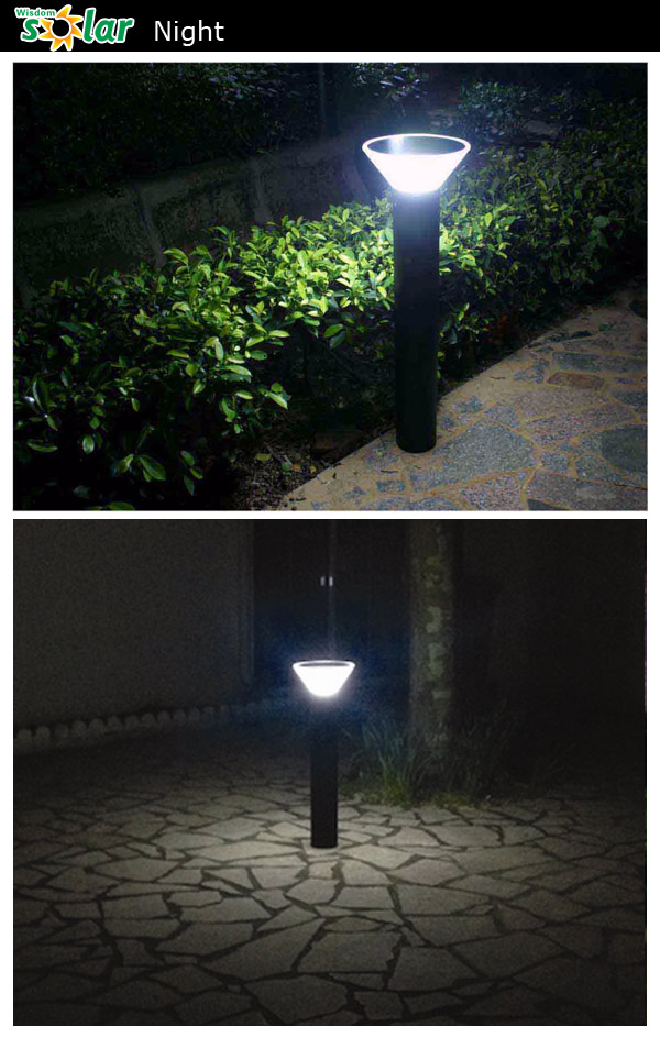 Outdoor Pillar Lamp High Lumen Solar Bollard For Garden Lighting