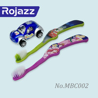 Wholesale Home Use Cartoon Printing Children Toothbrush Companies with Baby Car Toy